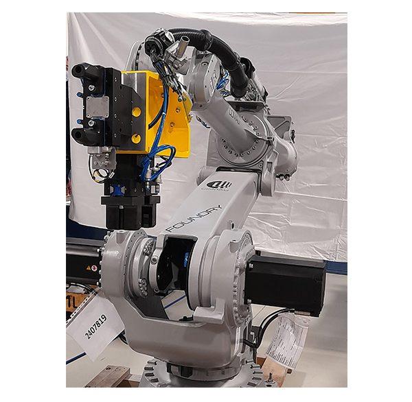 Robotierte Greifer zum Entnehmen und Ablegen an Qualitätskontrollsystemen, für Kurbelgehäuse und Motorköpfe - O.M.LER 2000